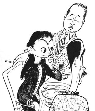 Dot Parker and Robert Benchley